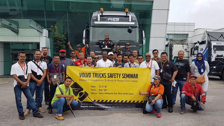 Volvo Trucks Safety Seminar with Globe Truckers and Volvo Trucks Malaysia FB friends