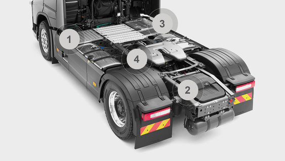 Volvo FH16 tractor chassis