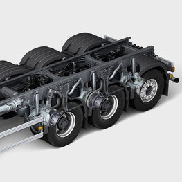 Volvo FMX rear air suspension for outstanding stability and driving comfort