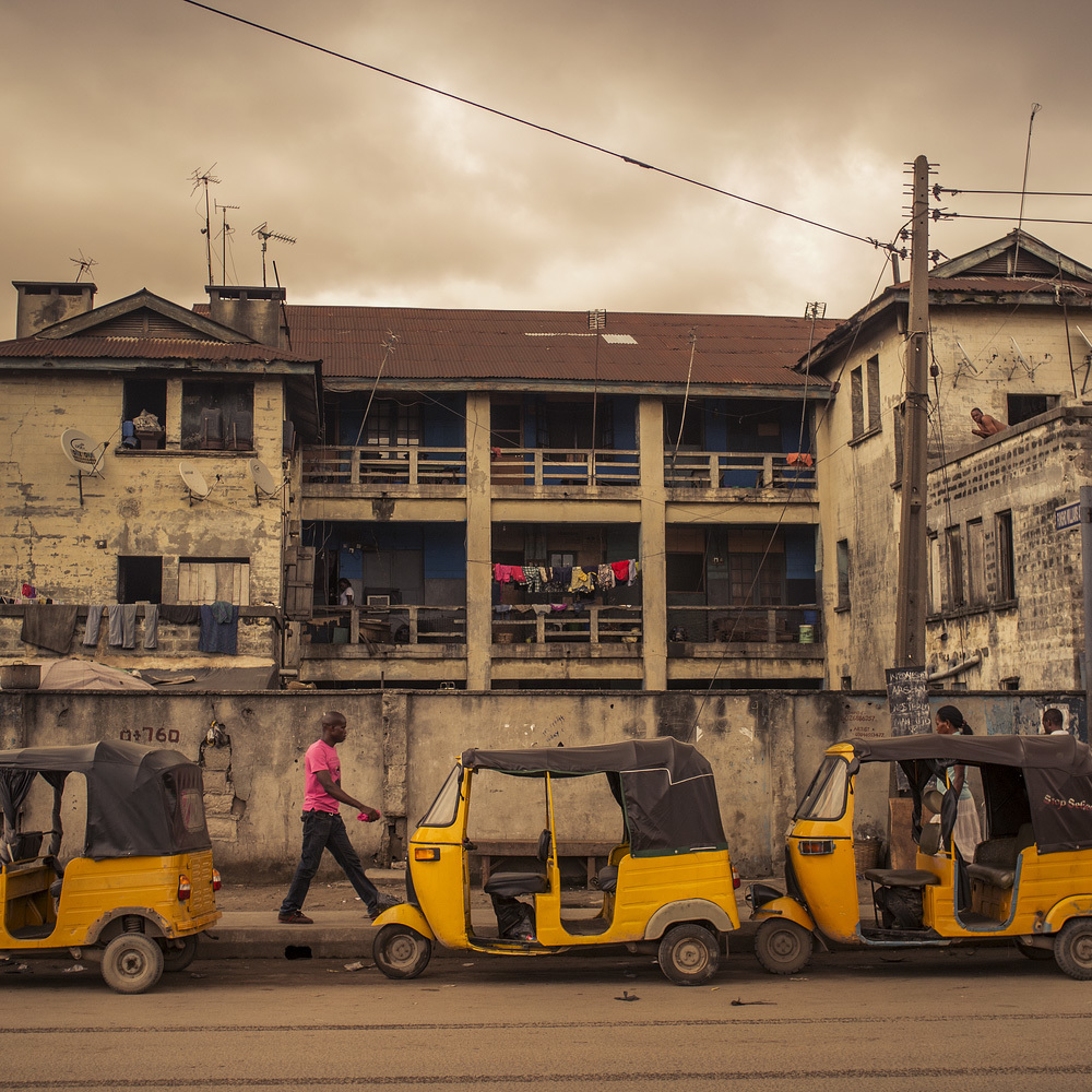 Taxis in Lagos.
