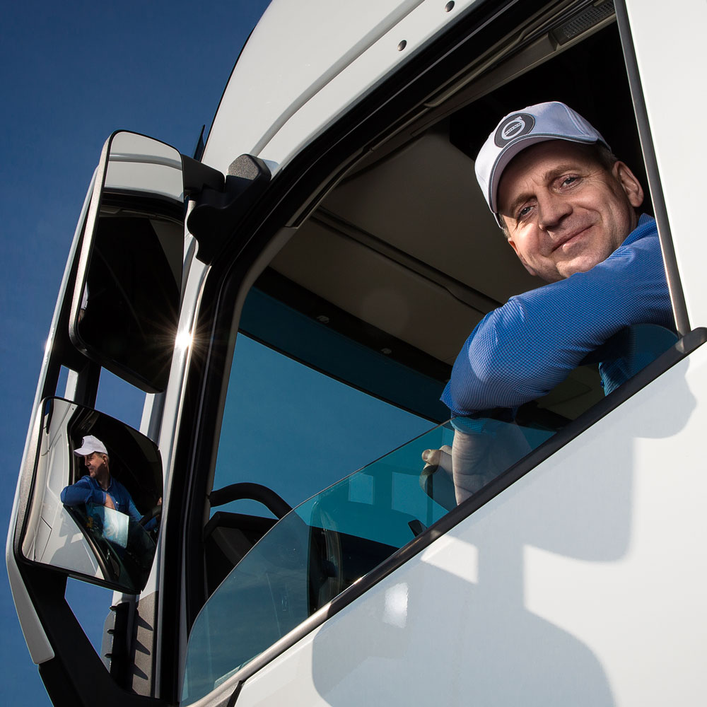 Robert Sek has been a truck driver for more than 20 years and is one of Jastim's most fuel-efficient drivers.